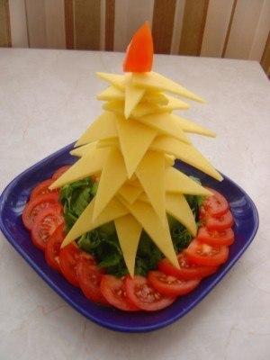 karácsonyfa sajtból