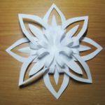 3D hópehely papírból: jégvirág