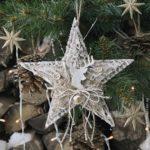 Csillag dekoráció karton papírból