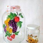 Befőttes üveg festése