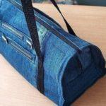 Farmernadrág átalakítás: nadrágból táska