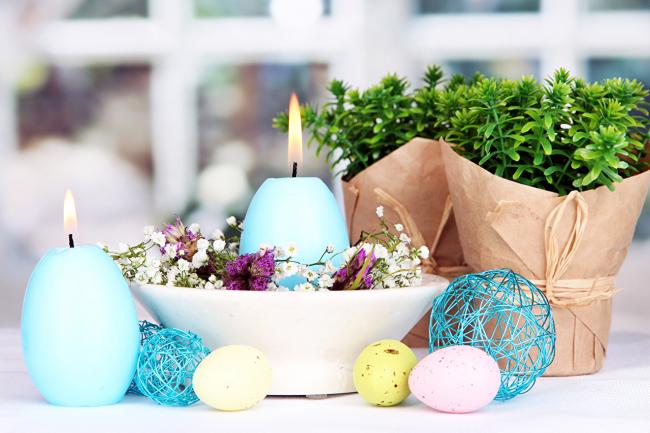 Húsvéti tojás gyertya készítése