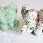 Textil elefánt varrása