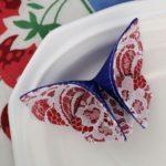 Textil pillangó origami technikával