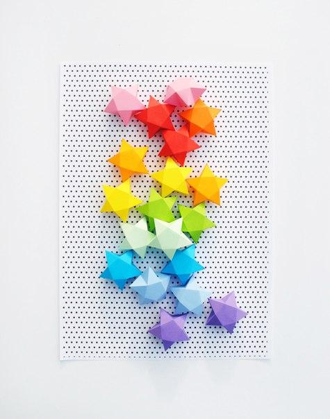 papír csillagok készítése