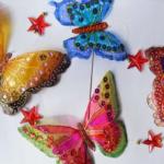 Pillangó dekoráció PET palackból