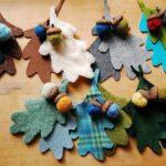 Őszi filc dekoráció készítése saját kezűleg