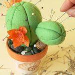 Kaktusz tűpárna készítése