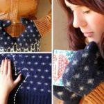 Újrahasznosítás: régi pulóverből téli kesztyű