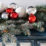 Kötött karácsonyi gömb régi pulóverből