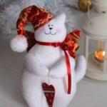 Karácsonyi cica angyalkák varrása