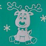 Rénszarvas sablonok karácsonyi dekoráció készítéshez