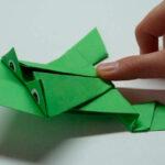 Papír béka készítése